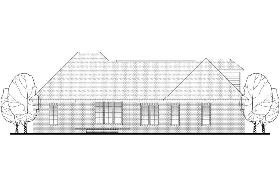 142-1083: Home Plan Rear Elevation