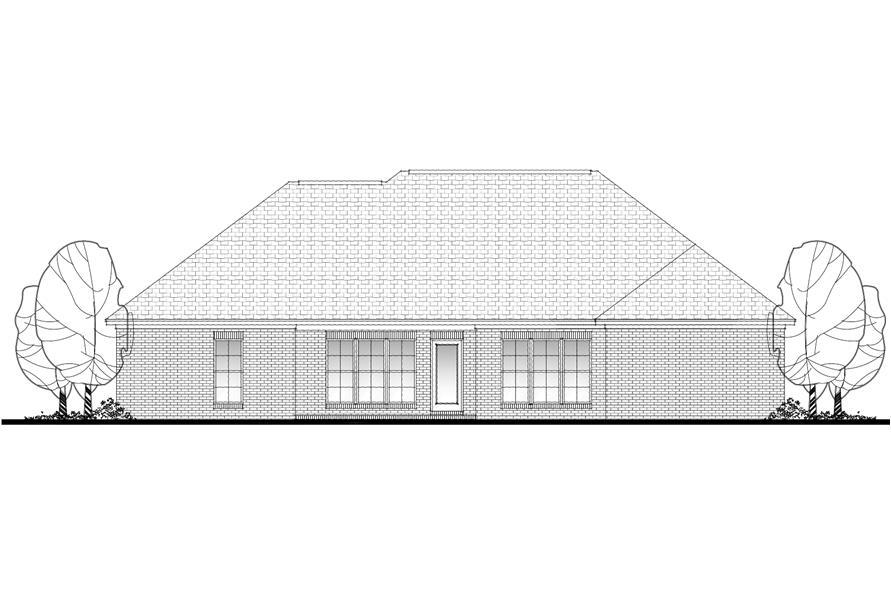 142-1087: Home Plan Rear Elevation