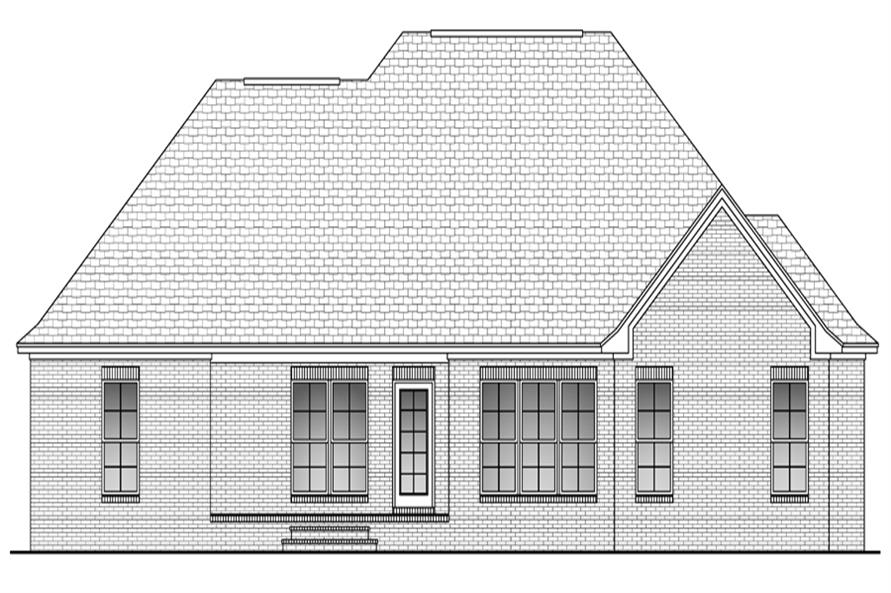 142-1091: Home Plan Rear Elevation