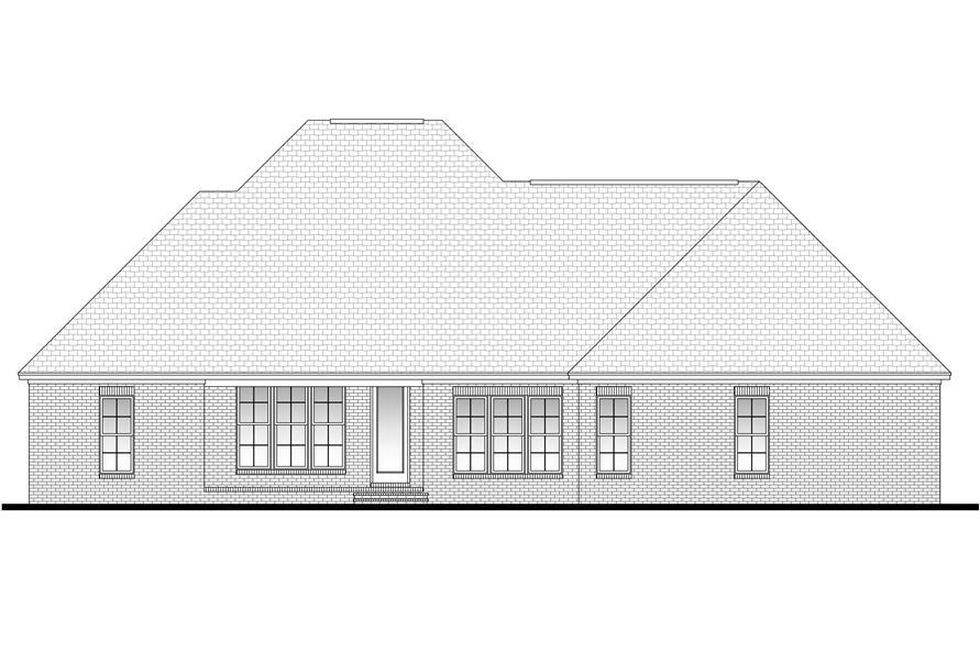 142-1094: Home Plan Rear Elevation
