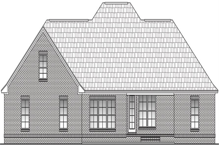 142-1098: Home Plan Rear Elevation