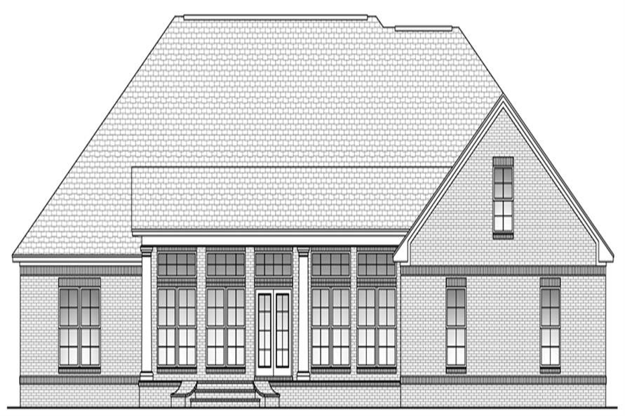 142-1103: Home Plan Rear Elevation