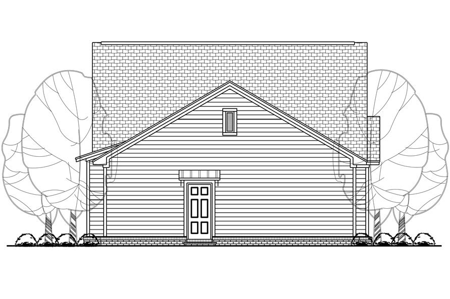 142-1123: Home Plan Rear Elevation