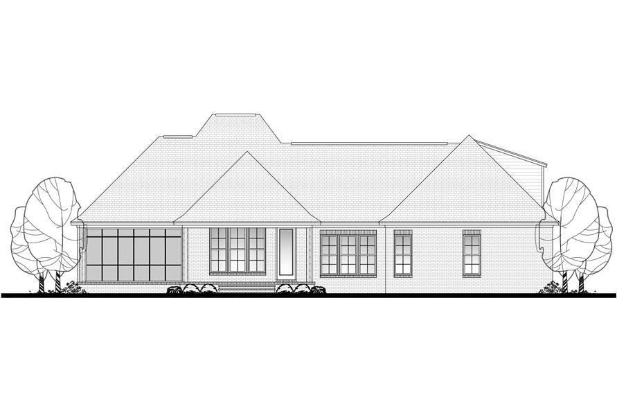 142-1126: Home Plan Rear Elevation