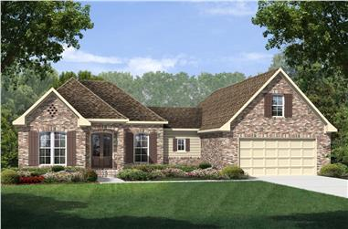3-Bedroom, 1884 Sq Ft Country Home Plan - 142-1145 - Main Exterior