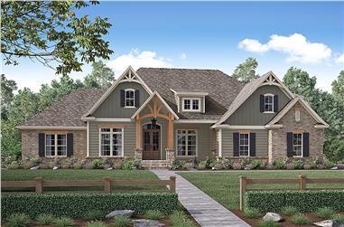 4-Bedroom, 2641 Sq Ft Country Home Plan - 142-1170 - Main Exterior