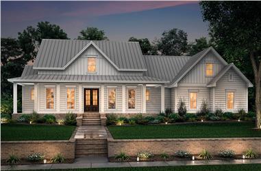 3-Bedroom, 2282 Sq Ft Transitional Farmhouse Plan - 142-1180 - Main Exterior