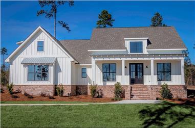 3-Bedroom, 2077 Sq Ft Modern Farmhouse Plan - 142-1184 - Main Exterior