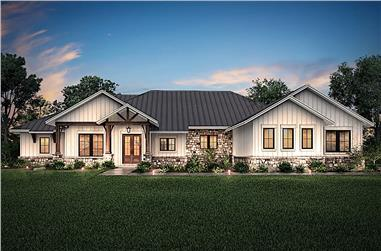 4-Bedroom, 3366 Sq Ft Ranch House - Plan #142-1207 - Front Exterior