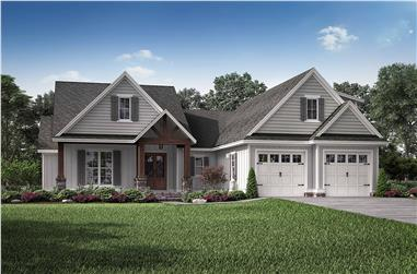 3-Bedroom, 2074 Sq Ft Farmhouse House - Plan #142-1210 - Front Exterior