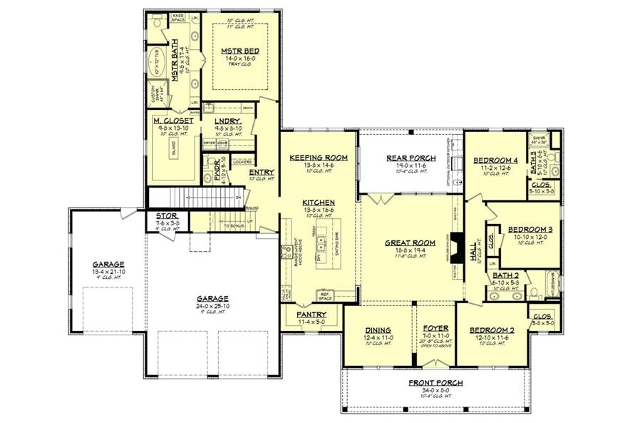 Home Plan Other Image of this 4-Bedroom,2763 Sq Ft Plan -142-1224