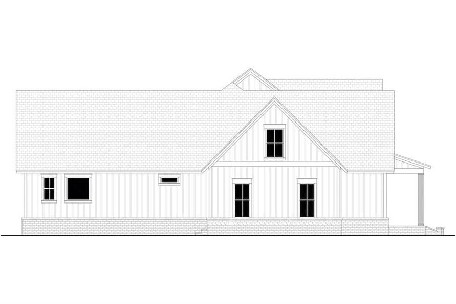 Home Plan Left Elevation of this 4-Bedroom,2763 Sq Ft Plan -142-1224