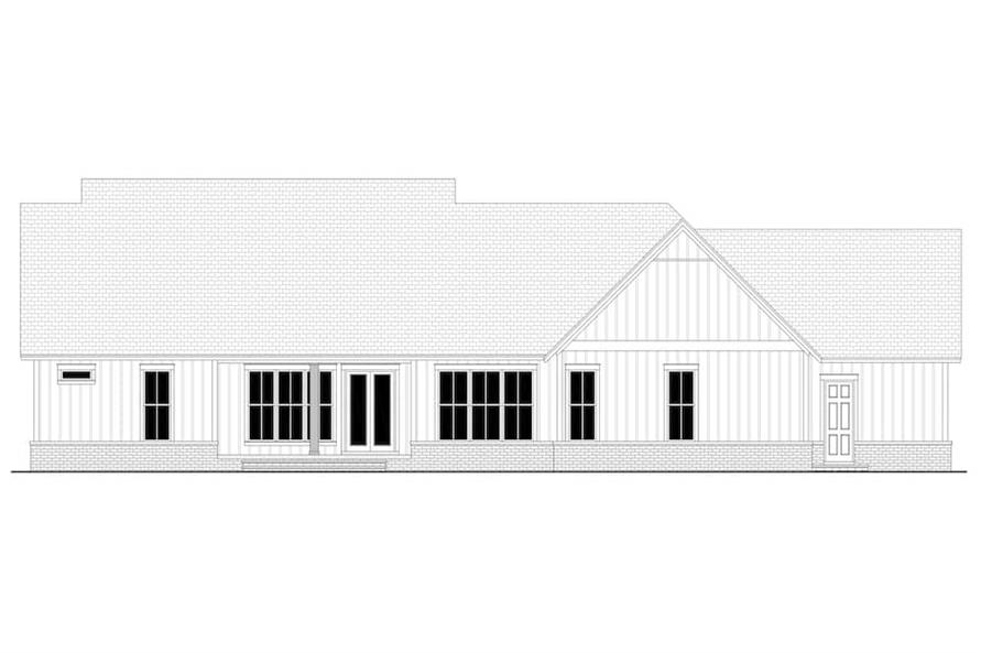 Home Plan Rear Elevation of this 4-Bedroom,2763 Sq Ft Plan -142-1224