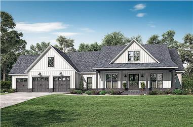 4-Bedroom, 2763 Sq Ft Farmhouse - Plan #142-1224 - Front Exterior