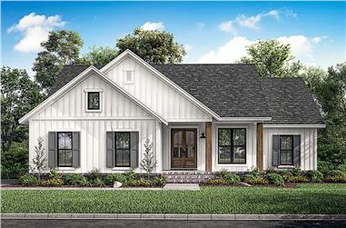 3-Bedroom, 1398 Sq Ft Ranch Home - Plan #142-1228 - Main Exterior