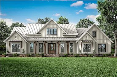3-Bedroom, 2553 Sq Ft Farmhouse House - Plan #142-1233 - Front Exterior
