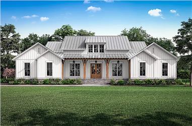3-Bedroom, 2589 Sq Ft Farmhouse Home - Plan #142-1238 - Main Exterior