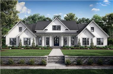 4-Bedroom, 3086 Sq Ft Farmhouse House - Plan #142-1244 - Front Exterior