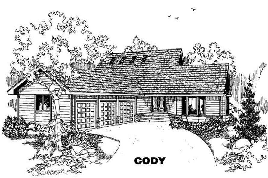 Main image for house plan # 5784