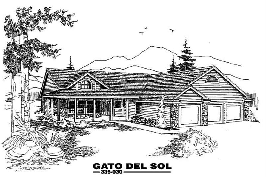 Main image for house plan # 3597