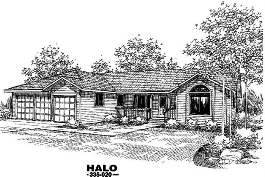 Main image for house plan # 3596
