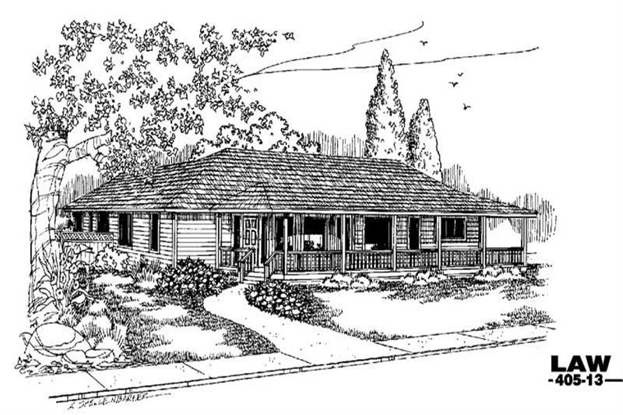 Main image for house plan # 6356