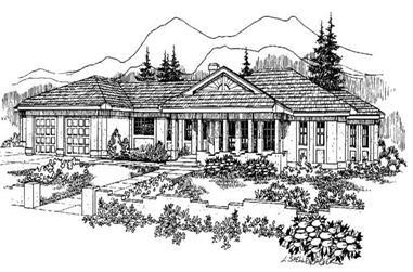 4-Bedroom, 2444 Sq Ft Home Plan - 145-1091 - Main Exterior