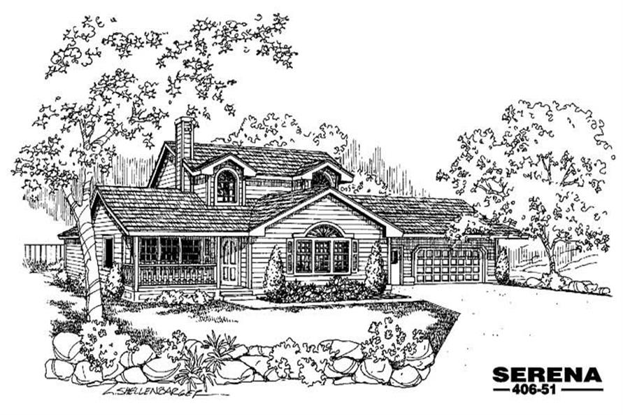 Main image for house plan # 6588