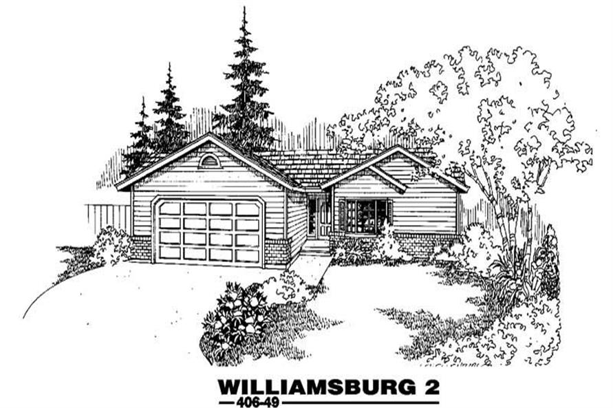Main image for house plan # 6586