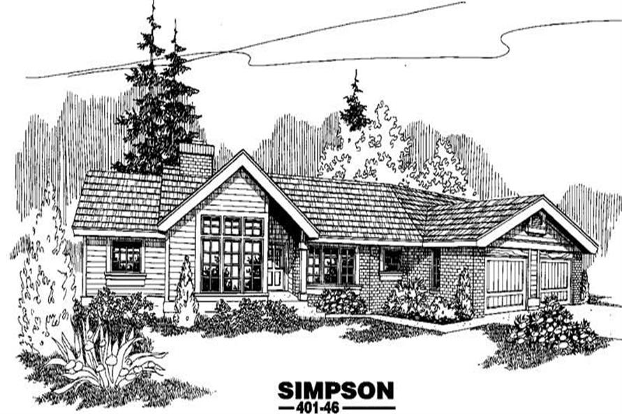 Main image for house plan # 3997