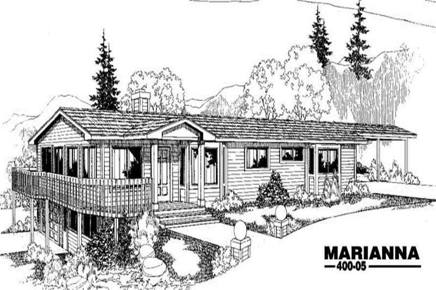 Main image for house plan # 3841