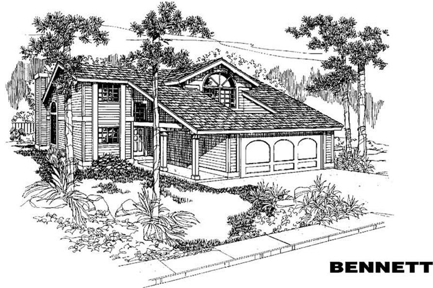 Main image for house plan # 3848