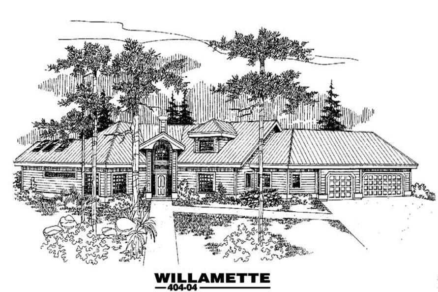 Main image for house plan # 5536