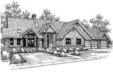 3-Bedroom, 3488 Sq Ft Ranch Home Plan - 145-1213 - Main Exterior