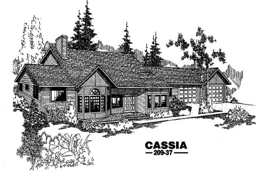 Main image for house plan # 3377