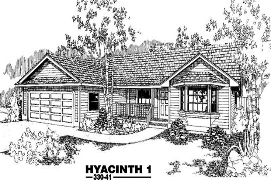 Front elevation of Country home (ThePlanCollection: House Plan #145-1253)