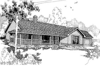 3-Bedroom, 1998 Sq Ft Country House Plan - 145-1272 - Front Exterior