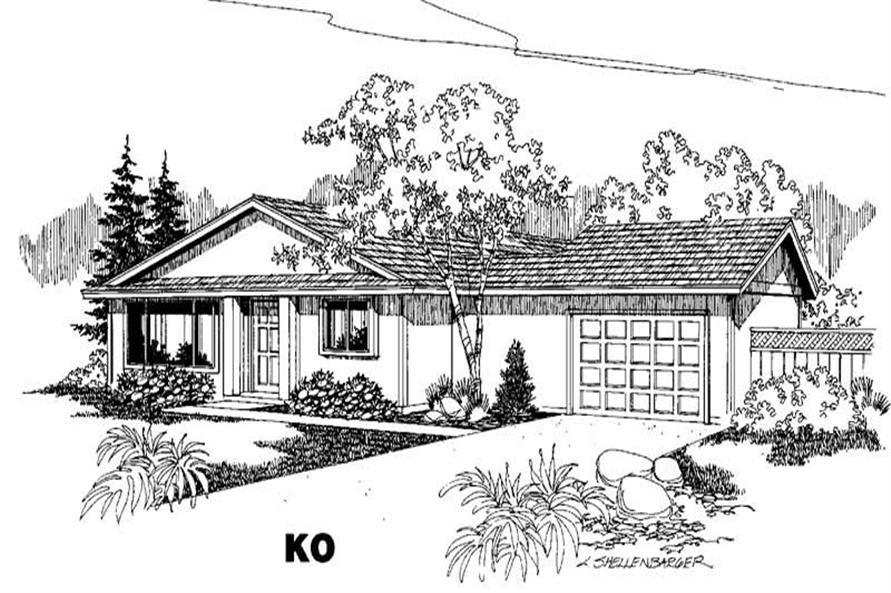 Main image for house plan # 5525