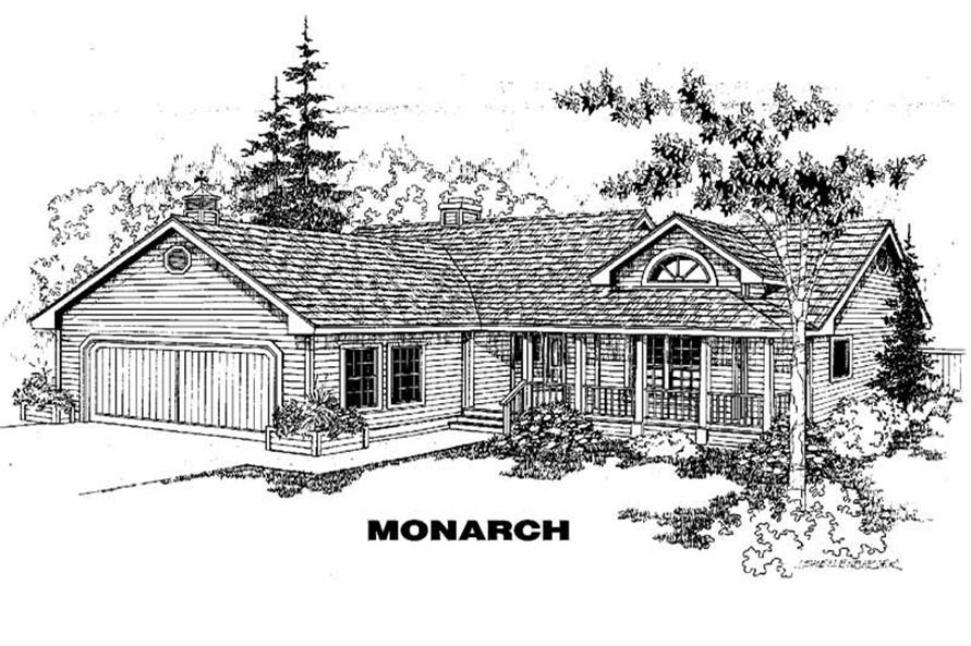 Main image for house plan # 3406