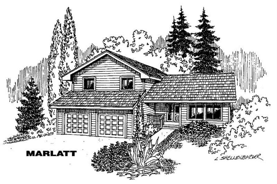 Main image for house plan # 5785