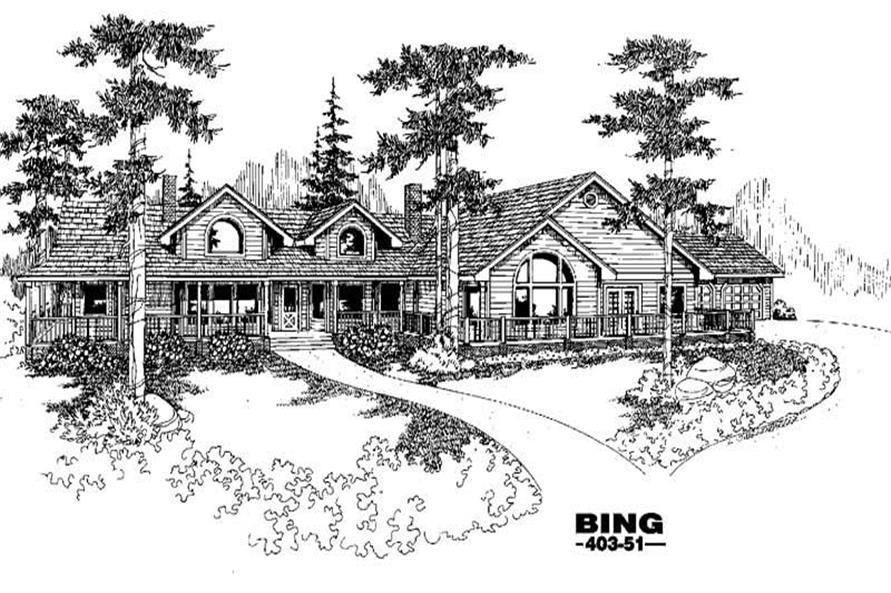 Main image for house plan # 5531