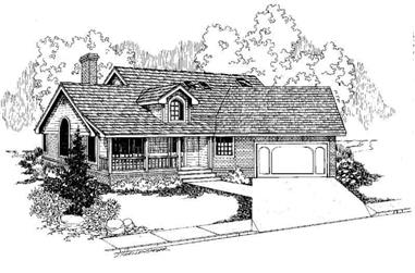 3-Bedroom, 1651 Sq Ft Country Home Plan - 145-1371 - Main Exterior