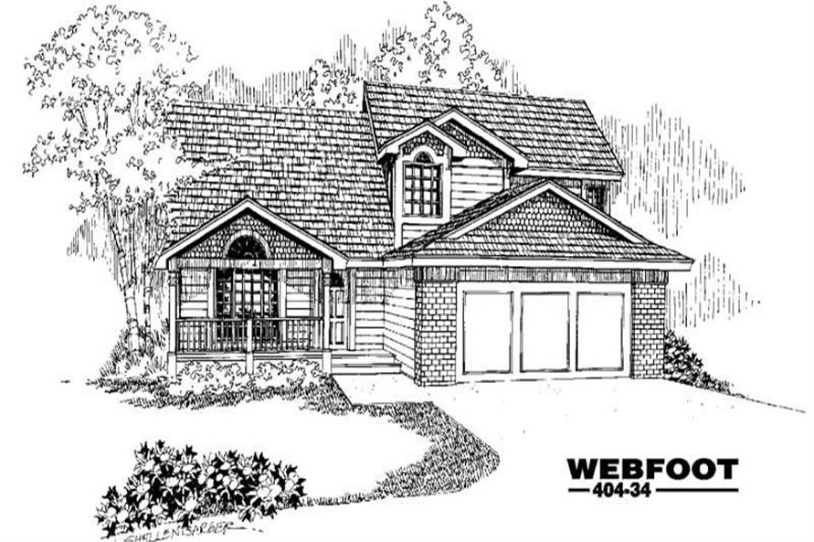 Main image for house plan # 5596