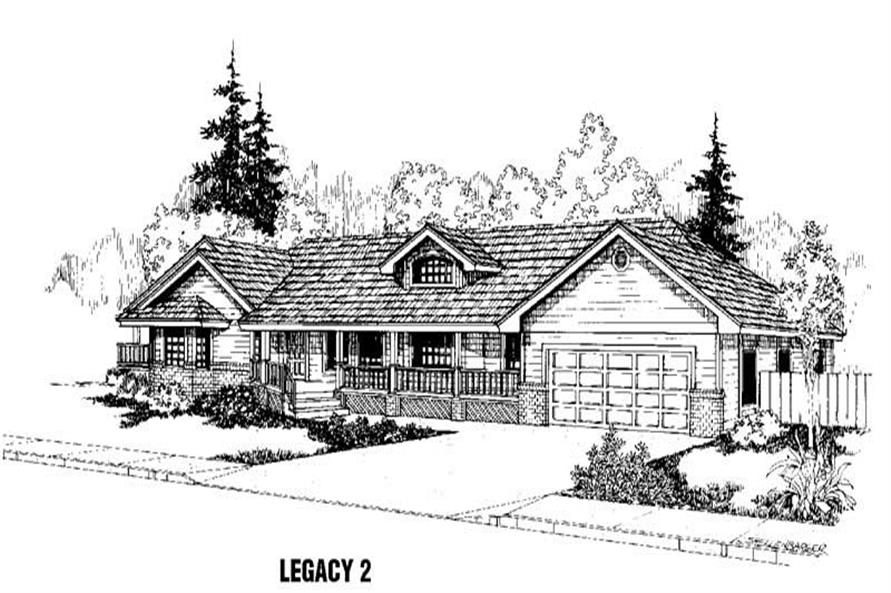 Main image for house plan # 3444