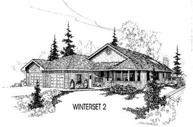 3-Bedroom, 2223 Sq Ft House Plan - 145-1400 - Front Exterior
