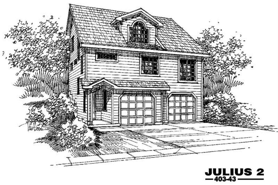 Main image for house plan # 4885