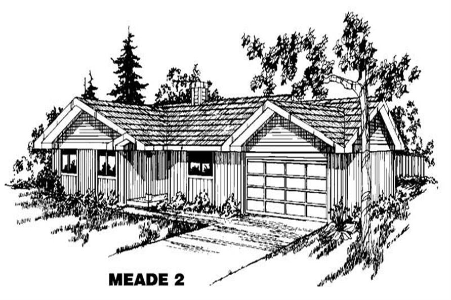 Main image for house plan # 4878