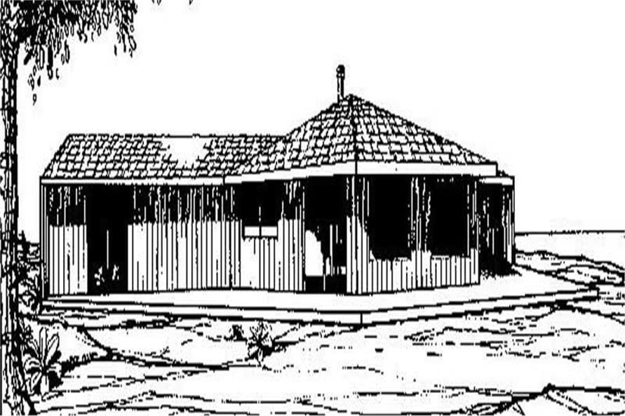 Log Cabins Front Elevation.