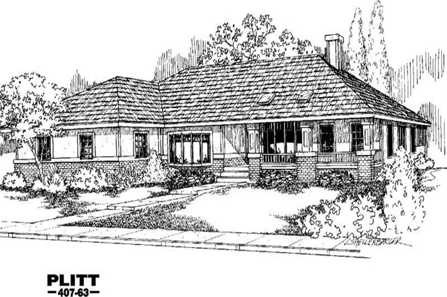 Main image for house plan # 6632