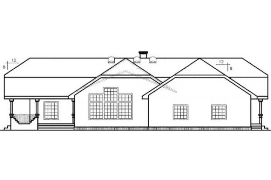 145-1554: Home Plan Rear Elevation
